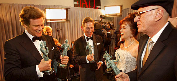'King's Speech' rules SAG Awards