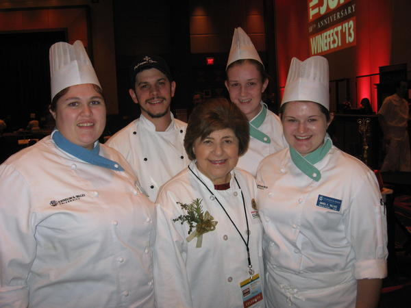 Celebrity chef Mary Ann Esposito, center, and her staff were among the celebrity chefs who were featured at the sold-out Celebrity Chef Dine Around Saturday  at the 10th annual Mohegan Sun WineFest.