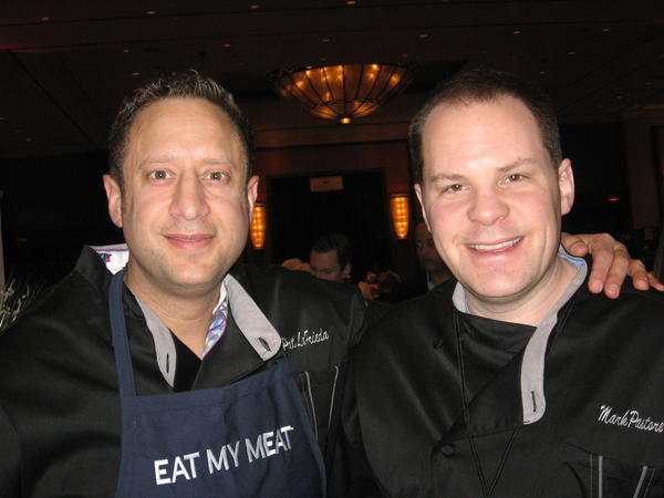 """Sultan of Steak"" Mark Pastore, left, and Pat LaFrieda, of ""The Meatmen"" on the Food Network."