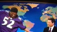 """Saturday Night Live"" tapped into excitement over the Super Bowl and the amusement over Ray Lewis' exuberance during the Weekend Update segment. Kenan Thompson appeared in jersey and face paint as Lewis, whom host Seth Meyers interviewed. The highlight came with Thompson's promise that, upon winning the Super Bowl, he would kneel down on the 50-yeard line and ASCEND INTO HEAVEN."