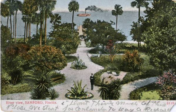 A postcard shows the river view at Sanford about the time the city on the St. Johns River became the county seat of Seminole County, created in 1913 and celebrating its centennial this year. The year 2013 is a big one for historic anniversaries, including Florida's 500th.