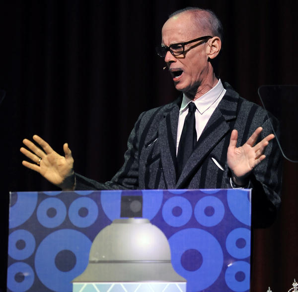 "John Waters acts as the narrator during the opening night of ""Hairspray"" with the BSO on Friday."