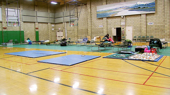 Volunteers Spend Night at Shelter for Emergency Exercise
