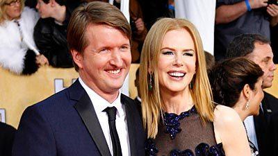 """Les Miserables"" director Tom Hooper and actress Nicole Kidman, nominated for ""The Paperboy,"" arrive at the Screen Actors Guild Awards."
