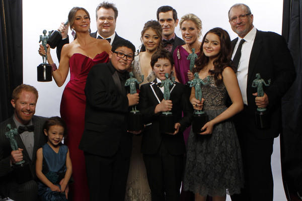 "The cast of ABC's ""Modern Family."""