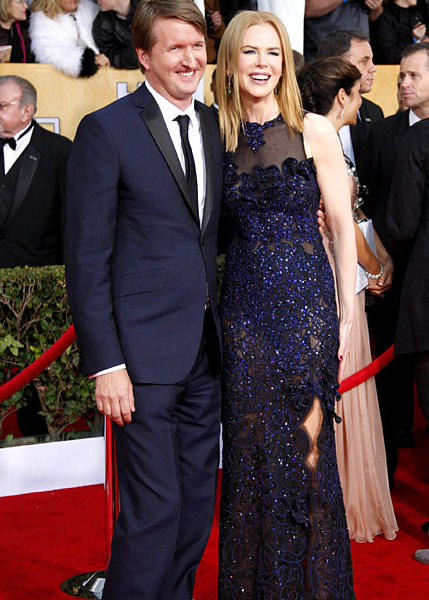 Director Tom Hooper and actress Nicole Kidman.