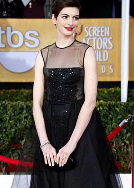 """Les Miserables"" actress Anne Hathaway."