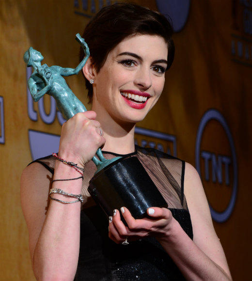 SAG Awards 2013: Best and worst moments: After embracing fellow nominee Sally Field on her way to the stage, Best Supporting Actress winner Anne Hathaway started with a joke: Im just so thrilled I have dental, she deadpanned in a nod to the actors union.   --Geoff Berkshire, Zap2it