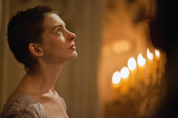 "Anne Hathaway in a scene from the movie ""Les Miserables."""