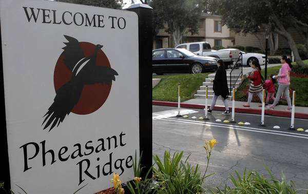 Tthe Pheasant Ridge apartment complex in Rowland Heights is one of the area maternity centers where pregnant Asian women come to give birth in order to gain U.S. citizenship for the babies.