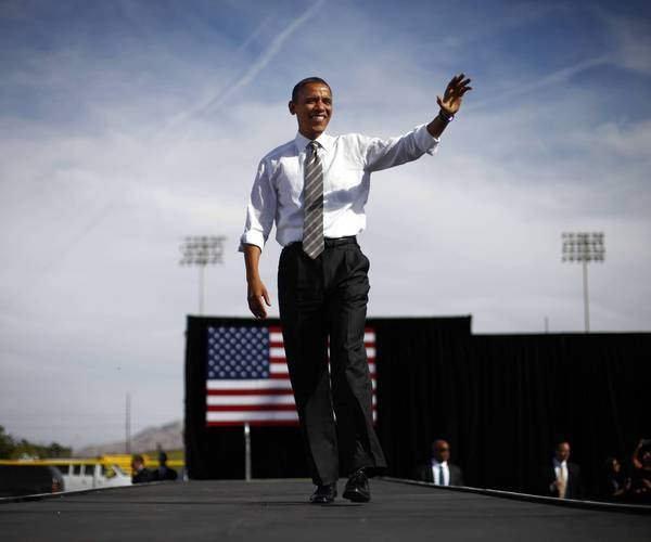 President Obama campaigns in November in Nevada, where the Latino vote helped him win reelection. He returns this week to push for immigration reform.