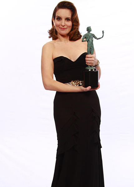 "Tina Fey, who won a SAG award for female actor in a comedy series for ""30 Rock."""
