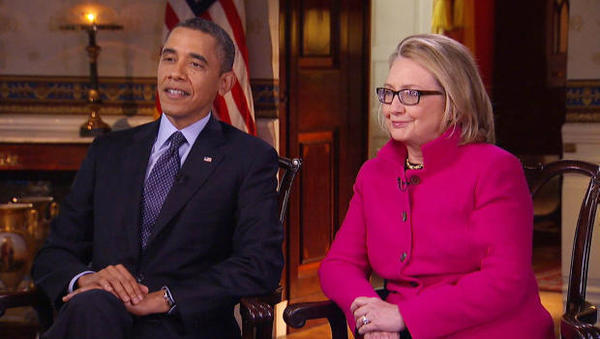 Barack Obama and Hillary Clinton trying to write first draft of history on her tenure as secretary of state on '60 Minutes' Sunday