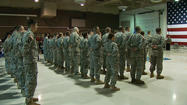 After months of welcoming home troops serving overseas, the Alaska Army National Guard held a departure ceremony for family and friends to say goodbye to the 60 guardsmen set to deploy to Kuwait.
