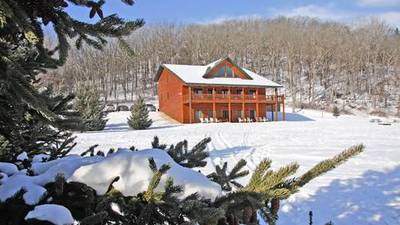 Cross-country skis and comfy cabins