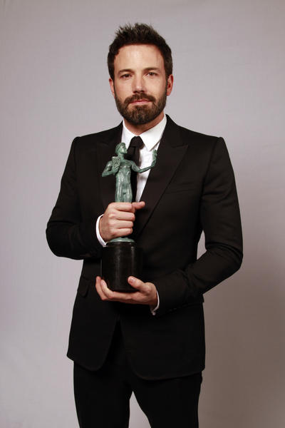 "Ben Affleck, whose film ""Argo"" won the SAG award for best ensemble in a motion picture."