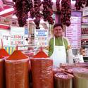 Shoppers can buy all of the spices and other ingredients needed to make paella at Valencia's historic Central Market.