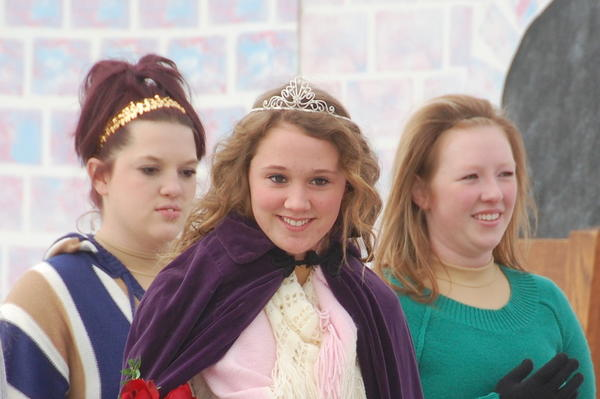 One of the highlights is the crowning of the Silver Skates Queen. This year's crown went to Cheyenne Schaller, center.