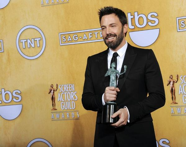 """Argo"" director and star Ben Affleck with his SAG Award."