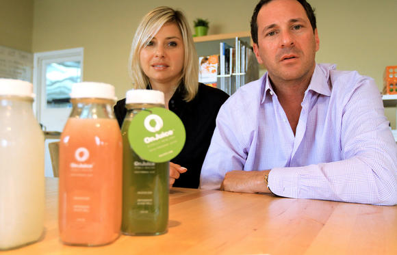 Olga Kuzenkov and Scott Harris, owners of DeliverLean in Boca Raton