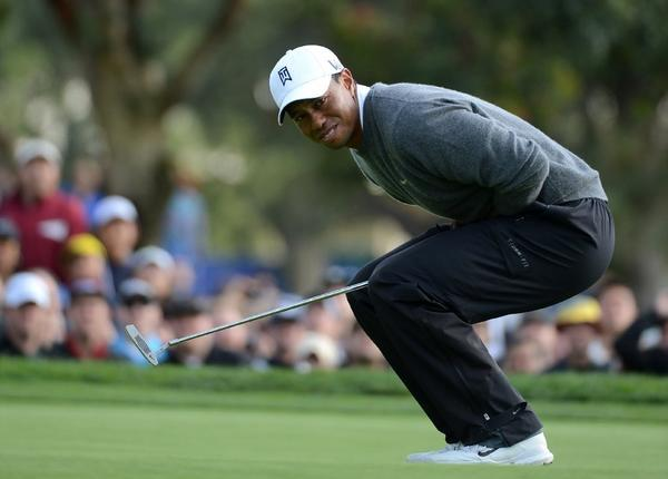 Tiger Woods has a commanding lead at Torrey Pines.