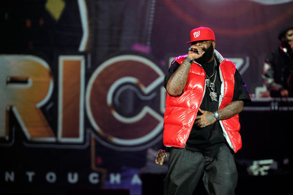 "Rick Ross performed at Lil Wayne's ""I Am Still Music"" tour at First Mariner Arena."
