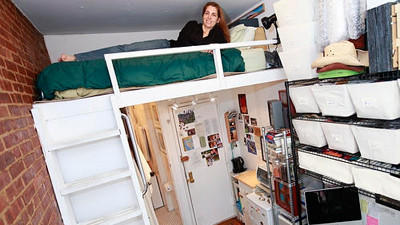 Young People Are Living in Micro-Apartments, Closets, Laundry Rooms