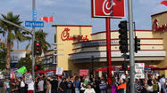 "<em></em>Chick-fil-A, the chicken chain that stoked controversy over same-sex marriage last summer, seems to have stopped donating to groups that ""actively engage in a political or social agenda to harm LGBT people and their families,"" according to one gay-rights group."