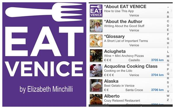 Going to Italy? The Eat Venice app allows users to search by categories, by neighborhood and by cost/