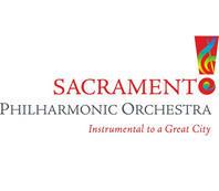 The Sacramento Philharmonic Orchestra logo.