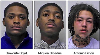 Trovonte Boyd, Miquon Broadus and Antonio Limon were charged after Washington County Sheriff's deputies were led on a car chase that ended with a collision near Smithsburg.
