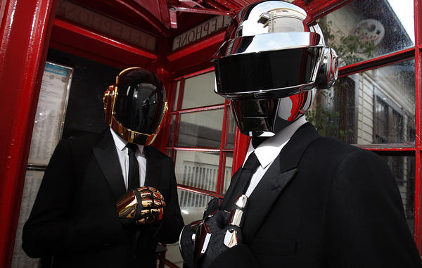 Daft Punk -- Guy-Manuel de Homem-Christo, left, and Thomas Bangalter -- has its fans all a-twitter.