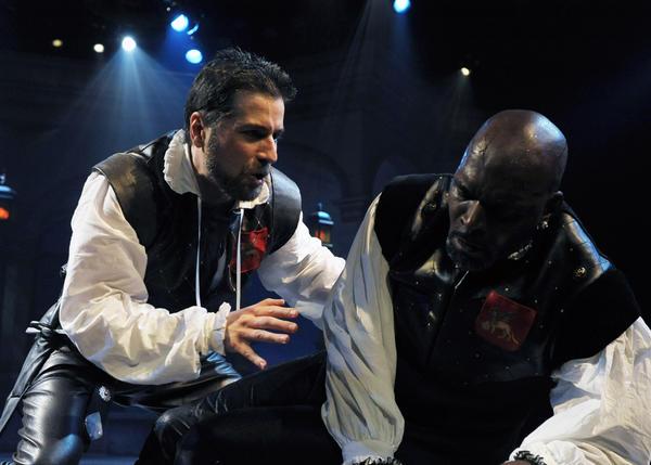 "Martin Yurek (left) and Esau Pritchett star in ""Othello."""