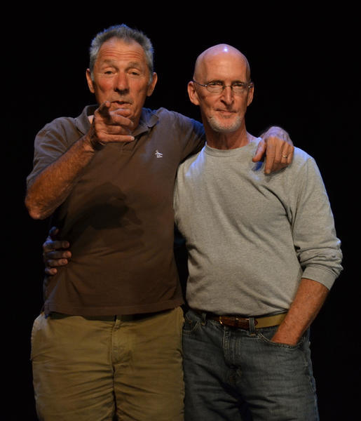 """Gloucester Blue"" playwright Israel Horovitz and director Louis Tyrrell."