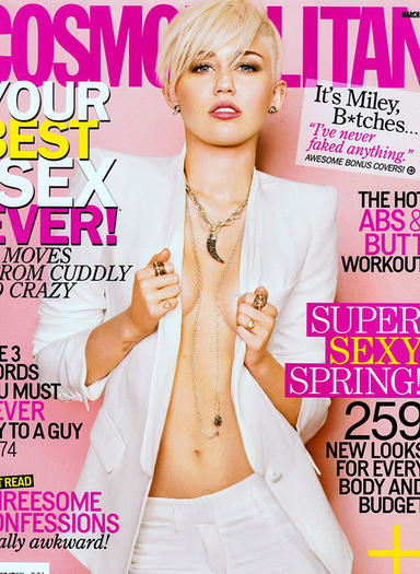 Miley Cyrus on the cover of Cosmo