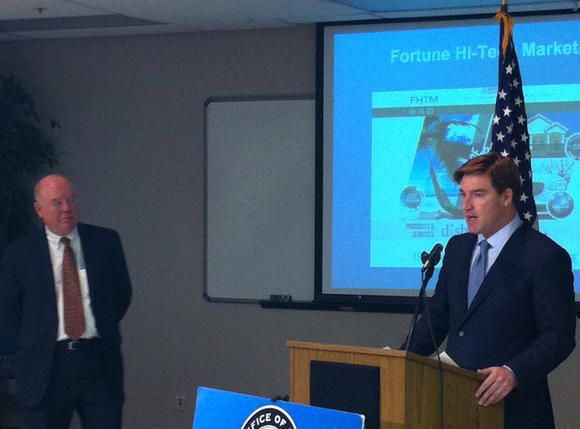 Kentucky Attorney General Jack Conway speaks at a news conference today regarding Fortune Hi-Tech Marketing.