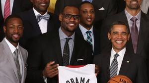 Watch President Obama welcome the Miami Heat to the White House