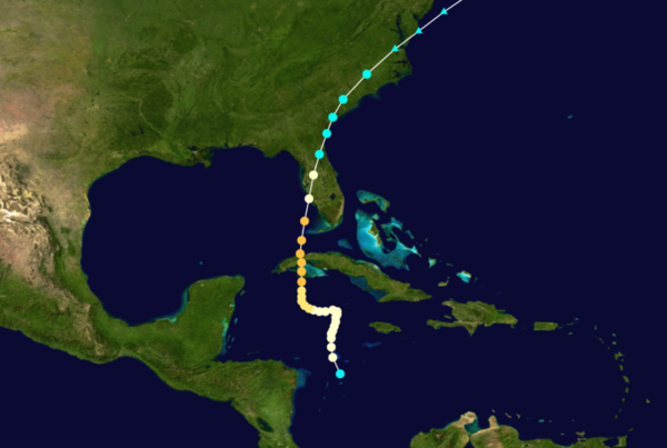 Areas affected:	Cuba, Florida, Swan Islands, Cayman Islands, Cuba, Florida, Carolinas, Virginia<br/> Date: October 1944<br/> Death toll: 318 direct<br/> Damages? $10 million (1944 USD);  $107 million (2005 USD)