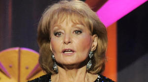 Barbara Walters, a.k.a. Benjamin Button, has chicken pox