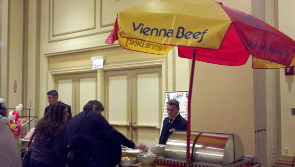 Another big plus for the SoxFest? Better food. This is true at the Cell too, and once I spotted the Vienna Beef stand, I was in. Four dollars = four tickets = one hot dog.