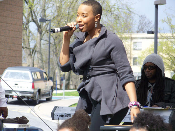 Carolyn Malachi will sing songs combining jazz, hip-hop and spoken word at 7:30 p.m. Friday, Feb. 1, at Shepherd Universitys Storer Ballroom in the student center, off King Street, Shepherdstown, W.Va.