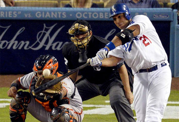 Juan Rivera batted only .244 for the Dodgers last season.