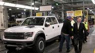 Strong business in North America helped Ford Motor Co. post a big increase in fourth-quarter profit Tuesday, excluding a tax adjustment last year, but the automaker is still being hurt by Europe's economic malaise.