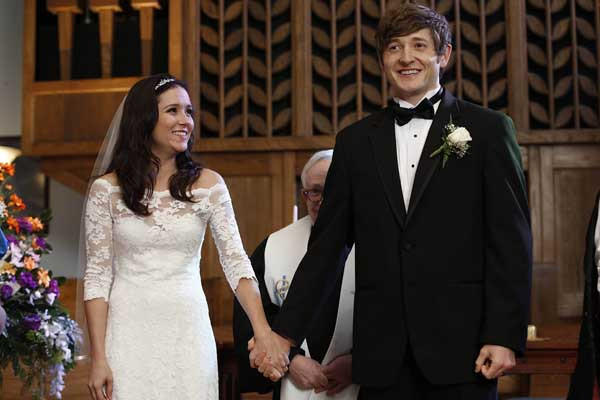"The honeymoon is over almost before it begins when Sabrina and Jimmy (Shannon Woodward, Lucas Neff) tie the knot on ""Raising Hope"" at 9 p.m. on Fox."