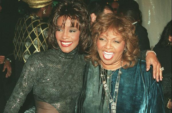 "Whitney Houston and Cissy Houston arrive for the taping of the ""Soul Train"" 25th anniversary special."