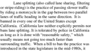 Document: Lane splitting on California freeways