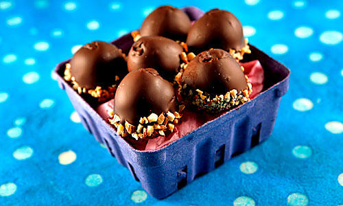 "Chocolate-covered Easter ""eggs."""