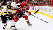 Bruins 5, Hurricanes 3: David Krejci scored to snap a tie with 1:50 remaining in the third period as visiting Boston exacted a measure of revenge after being swept by Carolina last season.