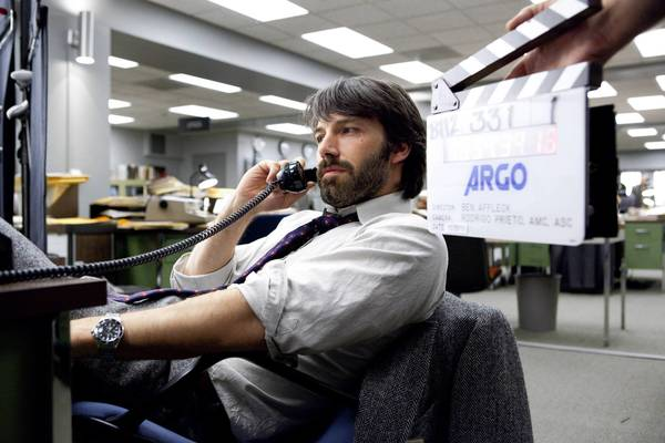"Ben Affleck directs and stars in ""Argo."""
