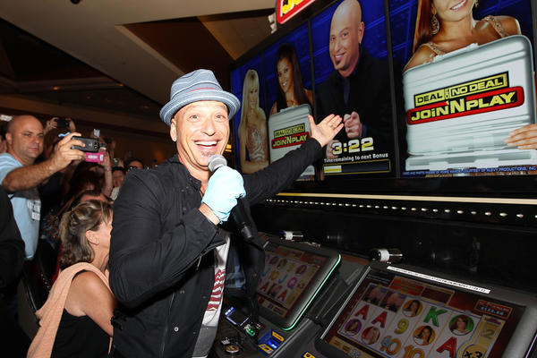 Howie Mandel at the Deal or No Deal Machine at the Hard Rock Monday night.